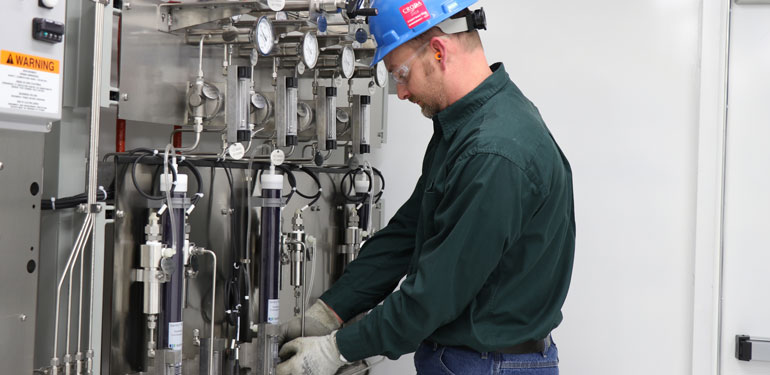 Sentry hydrocarbon plant sampling